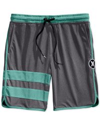 Hurley - Gray Dri-fit Scalloped Volley Shorts for Men - Lyst