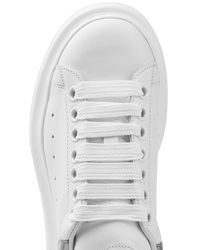 Alexander McQueen - Leather Sneakers - White - Lyst
