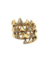 House of Harlow 1960 | Metallic Pyramid Pave Wrap Ring | Lyst