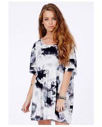 Missguided - Multicolor Tere Oversized Cloud Print Trapeze Dress - Lyst