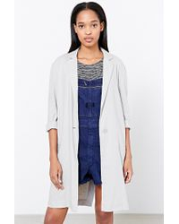 BB Dakota - Gray Herringbone Caelyn Blazer - Lyst