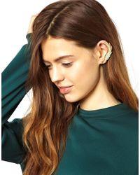ASOS - Metallic Leaf Ear Cuff - Lyst