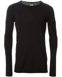Rick Owens - Black Round Neck T-Shirt for Men - Lyst
