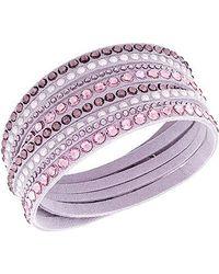 Swarovski | Pink Slake Deluxe Bracelet | Lyst