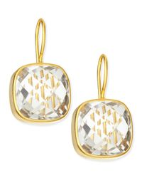 Dina Mackney - Metallic Clear Quartz 19K Gold Vermeil Drop Earrings - Lyst