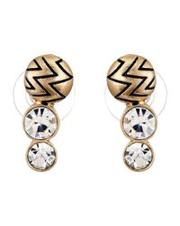 Sam Edelman - Metallic Stone Ear Crawler Earrings - Lyst