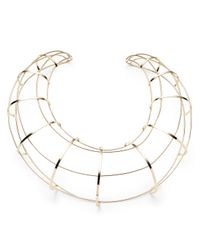 Alexis Bittar | Metallic Liquid Gold Cage Necklace | Lyst