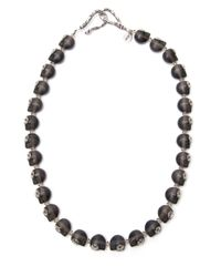 Shebee | Black Short Frosted Greta Necklace | Lyst