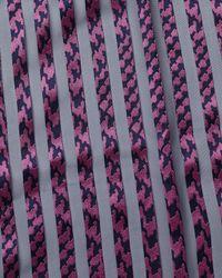 Jaeger - Pink Silk Devoré Striped Scarf - Lyst