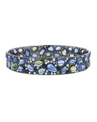 Arunashi | Blue Sapphire and Diamond Bangle | Lyst