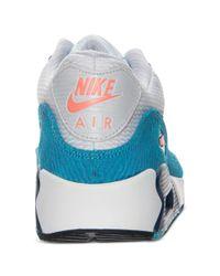 Nike - Blue Mens Air Max 90 Comfort Premium Tape Running Sneakers From Finish Line for Men - Lyst