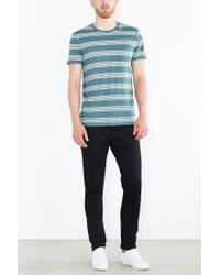 BDG | Green Rowen Stripe Standard-fit Tee for Men | Lyst