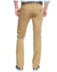 Armani Jeans | Natural 5-pocket Regular Fit Twill Pants for Men | Lyst