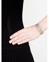 Natasha Collis | Metallic Cobbled Silver Small Cuff | Lyst
