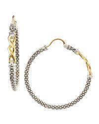 Lagos   Metallic Twist Caviar Hoop Earrings   Lyst