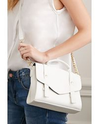 Forever 21 - Natural Faux Leather Envelope Crossbody - Lyst
