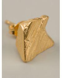 Imogen Belfield - Metallic Single Star Earrings - Lyst