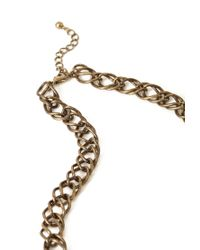Forever 21 - Metallic Lacquered Faux Gemstone Necklace - Lyst