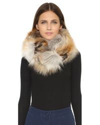 Jocelyn - Natural Fur Double Sided Infinity Scarf - Lyst