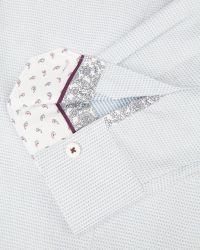 Ted Baker | White Bigidea Micro Dobby Shirt for Men | Lyst