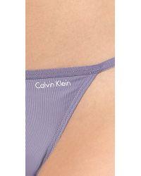 Calvin Klein - Purple Sleek String Bikini Briefs Fresh Dew - Lyst