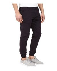 Timberland | Blue Parkin Brushed Twill Five-pocket Jogger Pants With Stone Wash for Men | Lyst