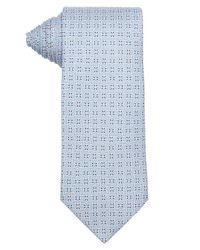 Hermès - Light Blue And White Geometric Print Silk Tie for Men - Lyst