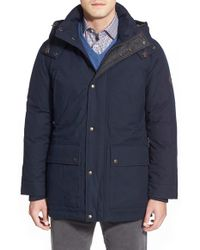 Cole Haan | Blue Hooded Parka for Men | Lyst
