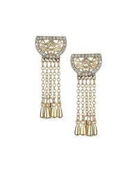 TOPSHOP - Metallic Tassel Drop Earrings - Lyst