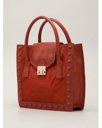 Loeffler Randall - Red Junior Work Tote - Lyst