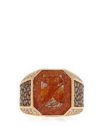 Ferragamo | Metallic Galuchat Fine Jewellery Collection Ring | Lyst