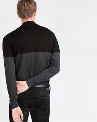 Zara | Gray Color Block Sweater for Men | Lyst