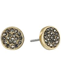 Rebecca Minkoff - Metallic Pave Stud Earrings - Lyst