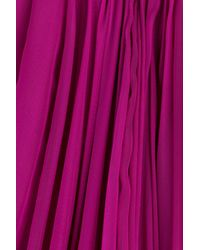 Alexander McQueen - Orange Floor Length Silk Chiffon Gown - Pink - Lyst