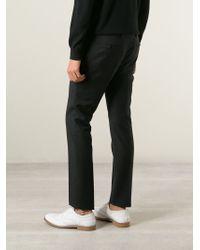 Lanvin - Black Slim Fit Trousers for Men - Lyst