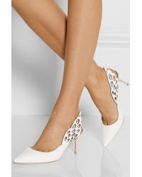 Sophia Webster - White Angelo Cutout Leather Slingback Pumps - Lyst