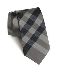 Burberry | Gray Woven Silk Tie for Men | Lyst