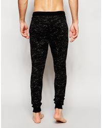 ASOS | Black Loungewear Skinny Joggers In Inject Slub Fabric for Men | Lyst