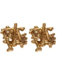 Ruth Tomlinson - Metallic Gold Champagne Diamond Stud Earrings - Lyst