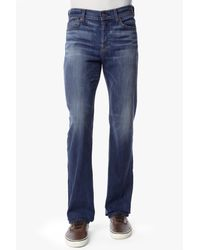 7 For All Mankind - Blue Luxe Performance: Standard Classic Straight In Hawaiian Sun for Men - Lyst
