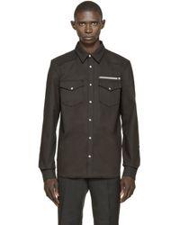 Givenchy - Gray Black Denim Shirt for Men - Lyst