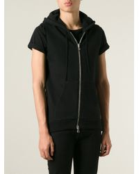 Balmain - Black Sleeveless Hoodie for Men - Lyst