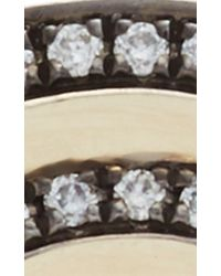 Noor Fares | Gray Black Gold And Diamond Tilsam Eternity Step Ring | Lyst