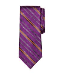 Brooks Brothers | Purple Alternating Stripe Tie for Men | Lyst