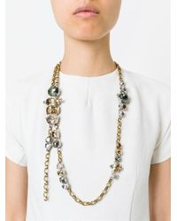 Lanvin - Metallic Sautoir Necklace - Lyst