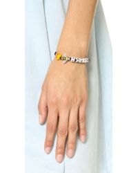 Venessa Arizaga - Fries Bee 4 Guys Bracelet - Black Multi - Lyst