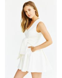 Keepsake - White High Tide Twist-front Dress - Lyst