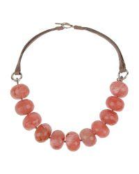 Brunello Cucinelli - Pink Necklace - Lyst