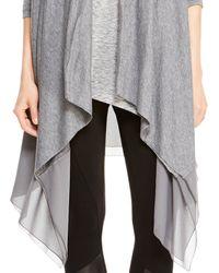 DKNY - Gray Pure Drape Front Cozy - Lyst