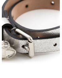 Alexander McQueen | Metallic Double Wrap Bracelet | Lyst
